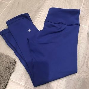 Lululemon Wunder Under crop reversible blue 6